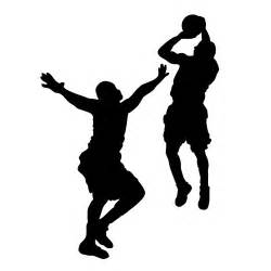 Black and White Basketball Player Clip Art