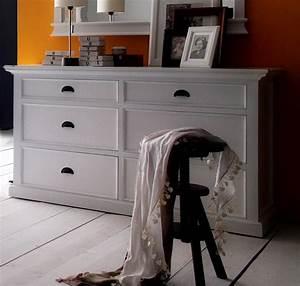 Commode Bois Blanc : commode bois blanc collection leirfjord 6 tiroirs buffet console commode meubles bois ~ Teatrodelosmanantiales.com Idées de Décoration
