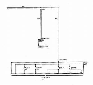 Acura Integra  1989  - Wiring Diagrams - Power Distribution