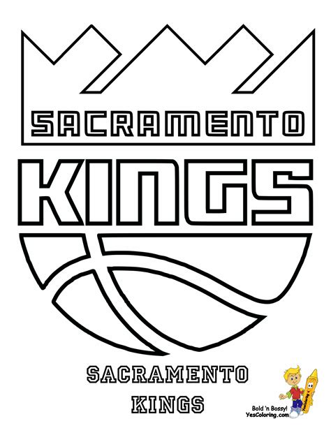 Los Angels Kings Free Coloring Pages