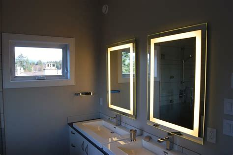 Lighted Bathroom Mirrors by Lighted Bathroom Vanity Make Up Mirror Led Lighted Wall