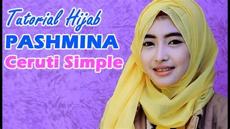 gambar lengkap tutorial hijab pashmina bahan ceruti