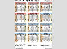 School calendars 20152016 as free printable PDF templates