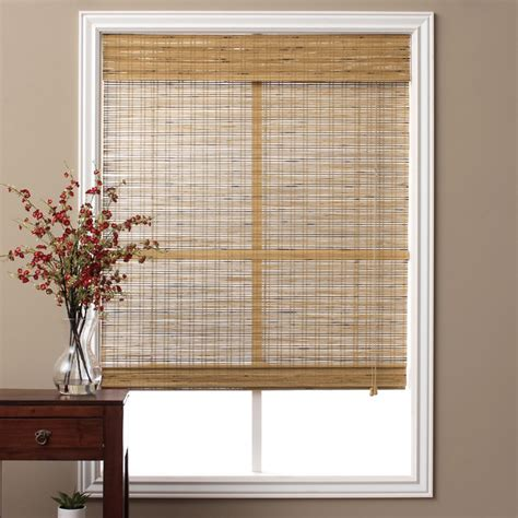 Tuscan Bamboo 74inch Long Roman Shade Contemporary