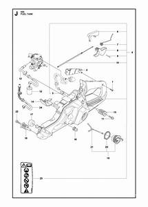 Husqvarna 555 Chainsaw Fuel Tank Spare Parts Diagram