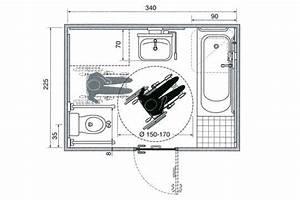 les plans d39une salle de bains amenagee pour un fauteuil With porte de douche coulissante avec meuble de salle de bain et vasque