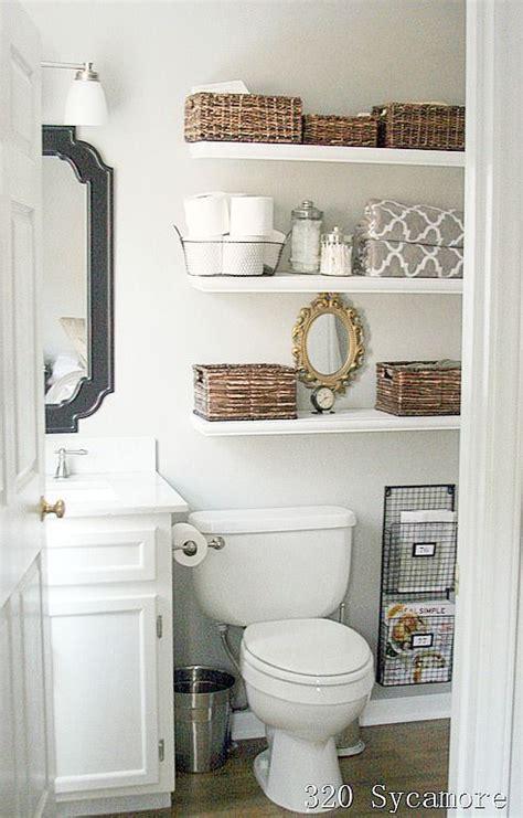 Bathroom Shelf Ideas 11 Fantastic Small Bathroom Organizing Ideas Toilets Bathroom Ideas And White Floating Shelves