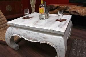 Opium Couchtisch Weiß : opiumtisch couchtisch holz wei antik shabby quadratisch 75x75x41 ~ Frokenaadalensverden.com Haus und Dekorationen
