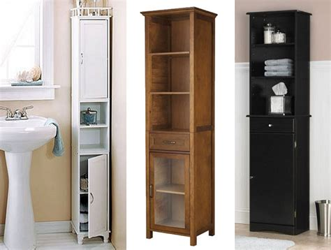Charming Amazing Narrow Bathroom Cabinets 1 Tall Storage