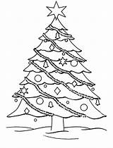 Coloring Christmas Pages Tree Trees Decorate Decorated Colouring Getcoloringpages Template Templates sketch template