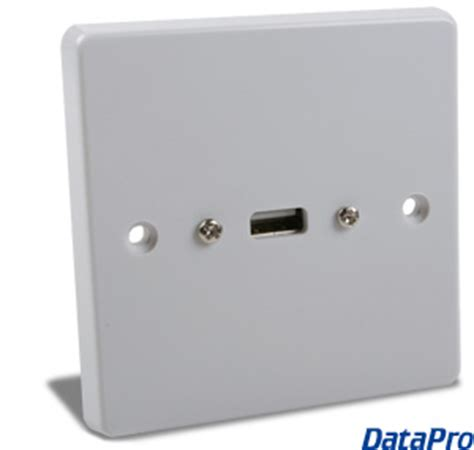 european usb wall plate datapro