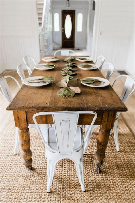 Rustic Kitchen Cottage Style Dining Room Tables Farmhous