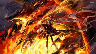 Dragon Anime Fire Fighting Wallpapers Backgrounds Breading