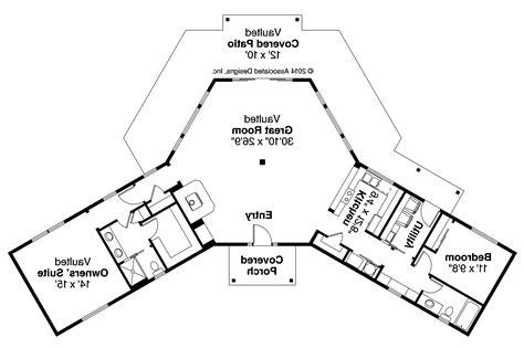 Ranch House Plans - Alder Creek 10-589 - Associated Designs