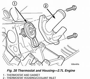 Where Is The Thermostat In A 2002 Sebring Convertible With 2 7 L Engine