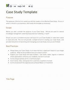 Case study template for Case study structure template