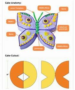 butterfly birthday cake simple but i like the shape With butterfly birthday cake template printable