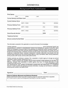 background check authorization form template With background check application template