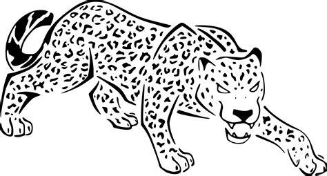 Coloring Jaguar by Jaguar Simple Coloring Pages