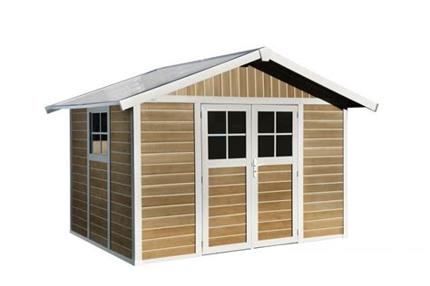 casetta da giardino in pvc casetta da giardino quot sherwood deco quot in pvc effetto legno