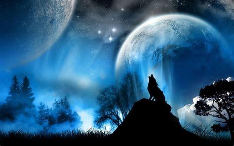 bureau pour imac wallpaper universe wolf
