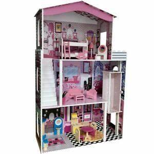 Puppenhaus Für Barbie : puppenhaus holz barbie barbiehaus villa puppenstube mit m beln holzhaus puppen ebay ~ A.2002-acura-tl-radio.info Haus und Dekorationen