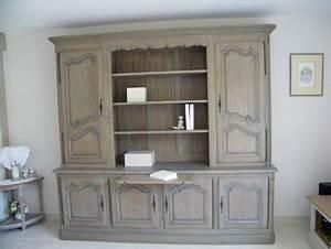 Relooking meuble bibliotheque chene une creation for Couleur qui va avec le bois 4 la suite du relooking
