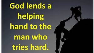 HUMANITY and HELPING HAND QUOTES - YouTube