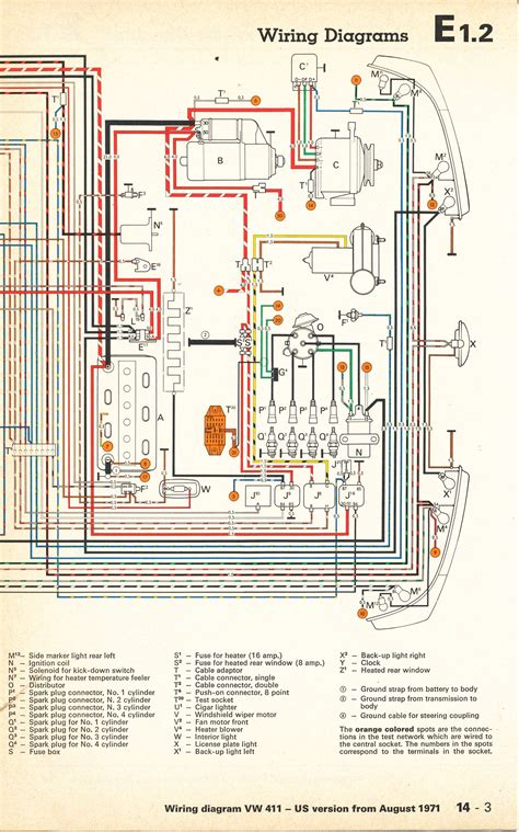 Wiring Diagram For A by Thesamba Type 4 Wiring Diagrams