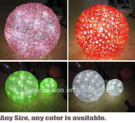 large light up balls hanging light up outdoor lighted decorating christmas big