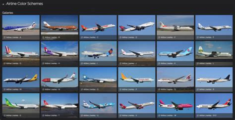 find your airline a through z click the photo airline color schemes