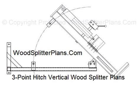 point hitch vertical wood splitter plans