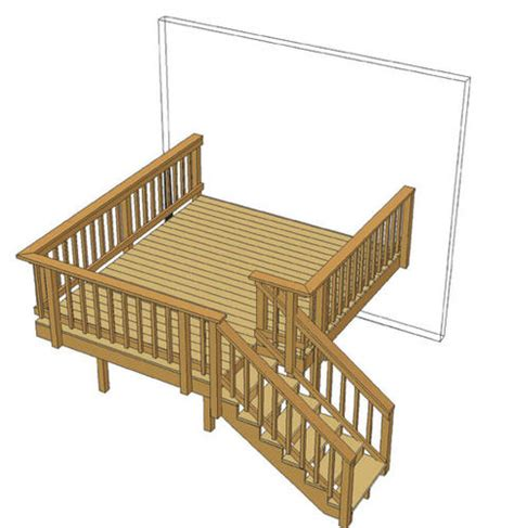 10x10 Deck Plans Free by 10 X 12 Single Level Deck W Aluminum Spindles At Menards 174