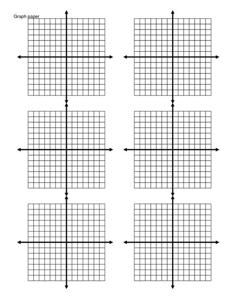 Printable Xy Graph  Printable Pages