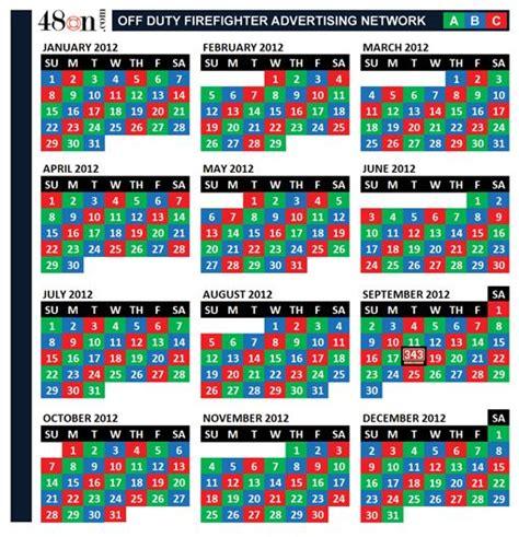 firefighter shift calendar calendar calendar calendar