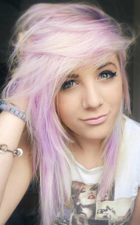 Light Pink Hair Girl With Light Pink And Lilaclight