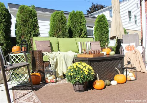 Fall Patio Decorating Ideas + Outdoor Tour  Green With Decor