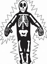 Skeleton Coloring Halloween Pages Printable Skeletons Skull Printables Sheets sketch template