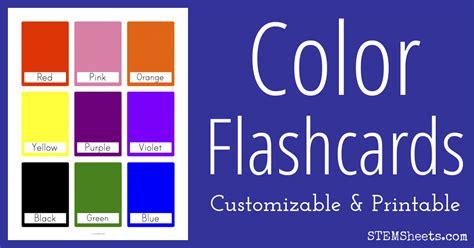 Color Flash Cards  Stem Sheets