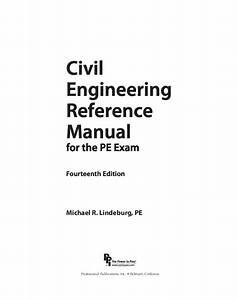 Pdf  Civil Engineering Engineering Reference Manual For