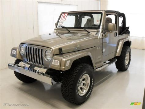 jeep metallic 2003 light khaki metallic jeep wrangler x 4x4 32025587