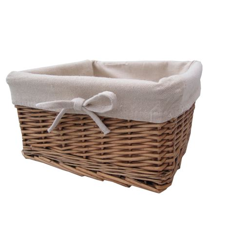 Buy Wicker Storage Basket Square Lined Online From The