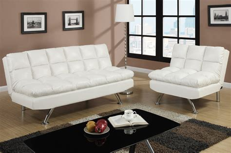 white leather sofa bed poundex f7015 white twin size leather sofa bed steal a