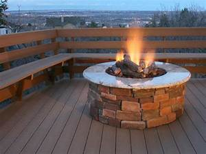 Brick and Concrete Fire Pits Outdoor Design