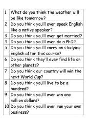 Will For Predictions  Esl Worksheet By Asya82