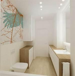 salle de bains blanche et bois palzoncom With salle de bain blanche et bois