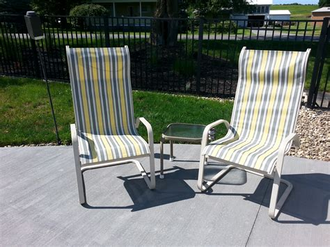 Patio Chairs by Patio Sling Chairs Recover Diy Decorating For Less