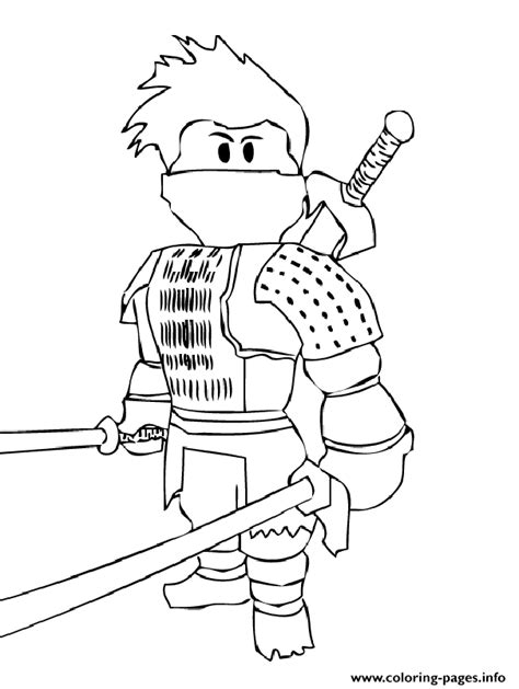 print roblox ninja coloring pages smith pinterest