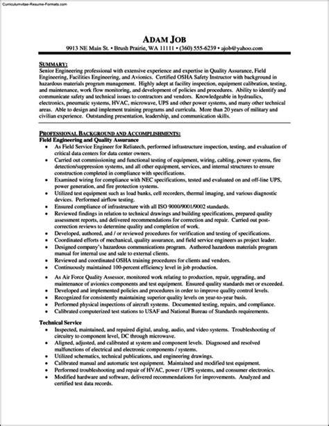 Free Sle Resume Templates by Supervisor Resume Template Housekeeping Supervisor