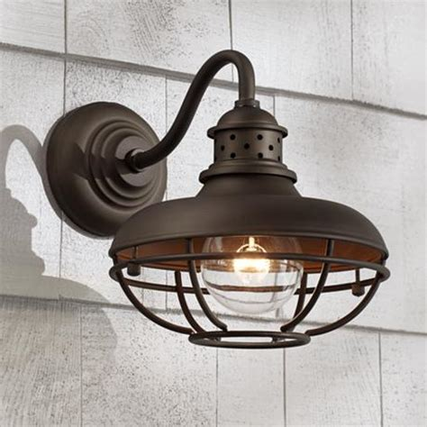 franklin park metal cage 9 quot high bronze outdoor wall light